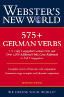 Webster's New World 575+ German Verbs