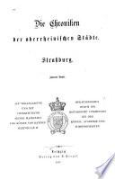 Die Chroniken der deutschen Städte vom 14. bis ins 16. Jahrhundert