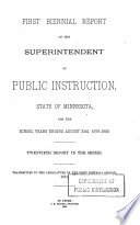 Annual report of the State Superintendent of Public Instruction to the Legislature of Minnesota