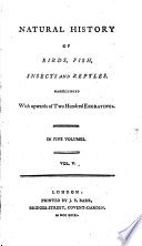 Natural History of Birds, Fish, Insects and Reptiles