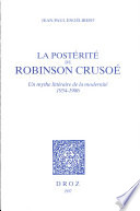 La post  rit   de Robinson Cruso