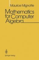 download ebook mathematics for computer algebra pdf epub