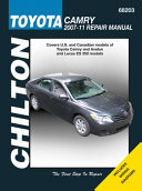 Chilton Toyota Camry 2007 11 Repair Manual