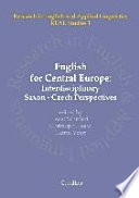 English for Central Europe   Interdisciplinary Saxon Czech Perspectives