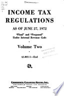 Income Tax Regulations  Final and Proposed Under Internal Revenue Code Book PDF