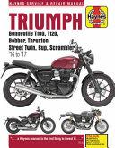Triumph Bonneville T100  Bonneville T120  Bobber  Thruxton  Thruxton R  Street Twin  Street Cup   Street Scrambler  2016 2017