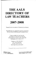 The AALS Directory of Law Teachers