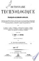 Technologisches worterbuch in Deutscher  Franzosischer und Englischer sprache
