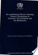 Re-establishing Effective Housing Finance Mechanisms in Tanzania