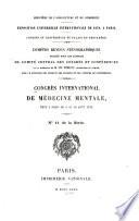 Rapports du Congrès tenu à Paris du 5. au 10. août, 1878
