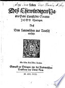 Leben Deß Ehrwürdigen Patris Petri Canisii der Societet Jesu Theologen