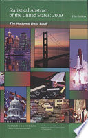 Statistical Abstract of the United States 2009  Hardcover