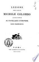 Lezione dell abate Michele Colombo intorno al favellare e scrivere con proprieta