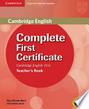 Complete First Certificate for Spanish Speakers Teacher's Book