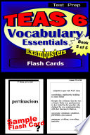 TEAS 6 Test Prep Essential Vocabulary  Exambusters Flash Cards  Workbook 5 of 5