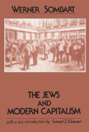 The Jews and Modern Capitalism Book