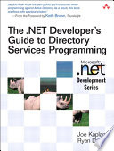 The  NET Developer s Guide to Directory Services Programming Book PDF