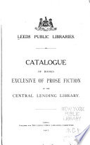 Catalogue of books exclusive of prose fiction in the Central Lending Library