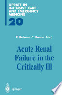 Acute Renal Failure In The Critically Ill