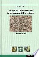 Beiträge zur Verfassungs- und Verwaltungsgeschichte Sachsens