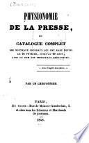Physionomie de la presse