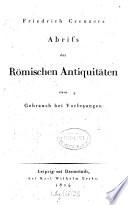Abriss der Römischen Antiquitäten