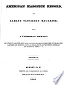 American Masonick Record and Albany Literary Journal