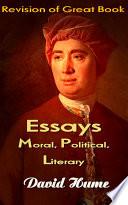 Essays Moral  Political  Literary Book PDF