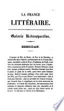 illustration du livre La France littéraire [ed. by C. Malo].