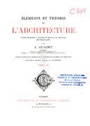 Théorie de l'architecture de la renaissance à nos jours