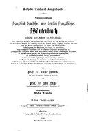 Encyklop  disches franz  sisch deutsches und deutsch franz  sisches W  rterbuch      Th  Franz  sisch deutsch