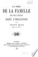 illustration La part de la famille et de l'état dans l'éducation