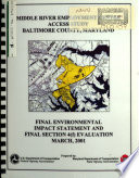 Middle River Employment Center Access Study, Section 4(f) Evaluation, Baltimore County