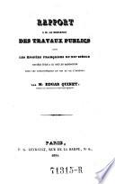 Rapport Des Travaux Publics Sur Les Epopees Francaises Du Xiie Siecle Etc