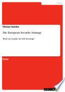 Die European Security Strategy