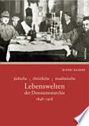 Jüdische, christliche, muslimische Lebenswelten der Donaumonarchie 1848-1918