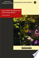 Love And Freindship And Other Early Works  EasyRead Comfort Edition