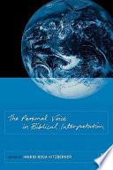 The Personal Voice in Biblical Interpretation