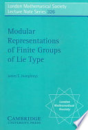 Modular Representations of Finite Groups of Lie Type