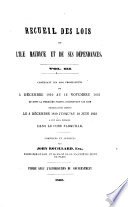 A Collection of the Laws of Mauritius and Its Dependencies ...