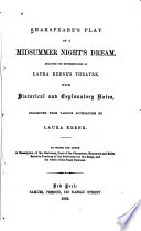 Shakespeare's Play of a Midsummer Nights Dream