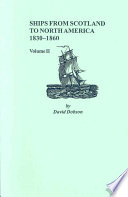 Ships from Scotland to North America  1830 1860