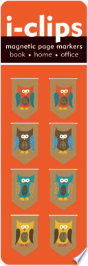 Owls I Clip Magnetic Page Markers  Set of 8 Magnetic Bookmarks