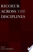 Ricoeur Across The Disciplines book