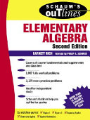 Schaum s Outline of Theory and Problems of Elementary Algebra