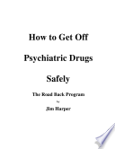 How To Get Off Psychiatric Drugs Safely