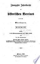 Jahres-bericht des Historischen vereines von Oberbayern