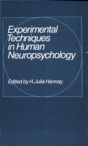 Experimental Techniques in Human Neuropsychology