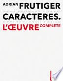 illustration Adrian Frutiger – Caractères