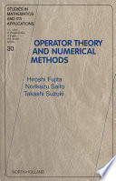 Operator Theory And Numerical Methods book